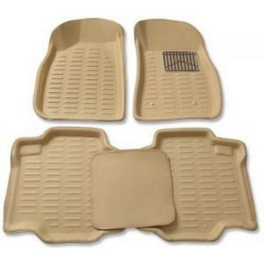 3D Foot Mats for Maruti Suzuki old WagonR(1999-2009) Black Color-TGS-3D Black 94