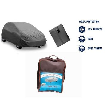 Honda Jazz Car Body Cover  imported Febric with Buckle Belt and Carry Bag-TGS-G-WPRF-42
