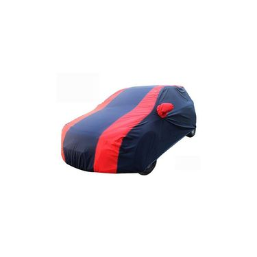 Skoda Fabia Car Body Cover Red Blue imported Febric with Buckle Belt and Carry Bag-TGS-RB-136