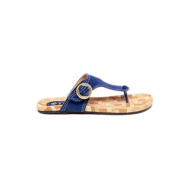 Ten Suade Leather 235 Women's Sandals - Blue