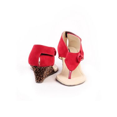 Ten Suade Leather 239 Women's Sandals - Red