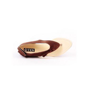 Ten Suade Leather 240 Women's Sandals - Brown