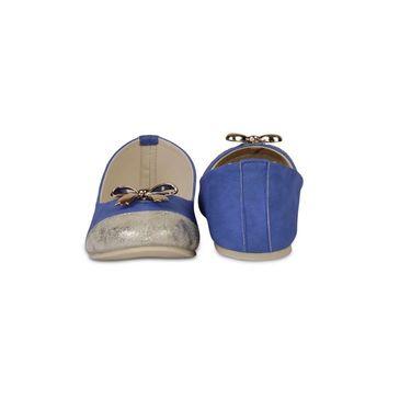 Ten Faux Leather Bellies For Women_tenbl013 - Blue