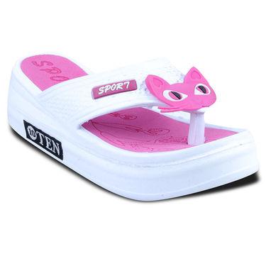 Ten PVC Slippers For Women_tenbl053 - White