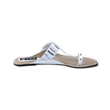 Ten Synthetic Sandals For Women_tenbl071 - White
