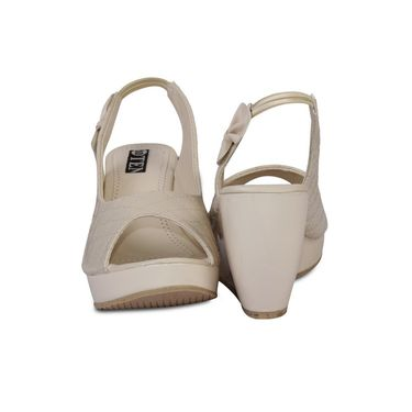 Ten Patent Leather Wedges For Women_tenbl109 - Beige