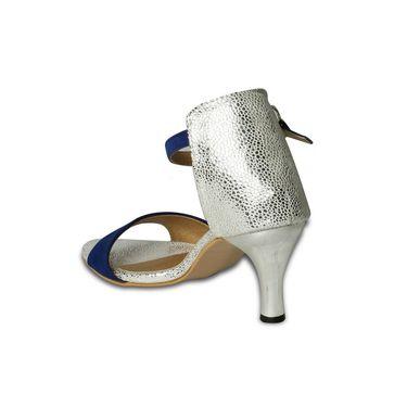 Ten Suede Heels Sandals For Women_tenbl152 - Blue