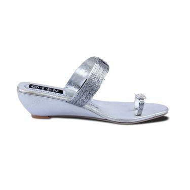 Ten Synthetic Sandals For Women_tenbl170 - Silver