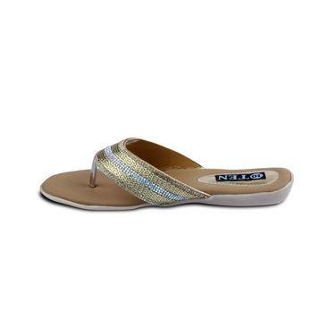 Ten Synthetic Sandals For Women_tenbl172 - Gold