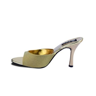 Ten Synthetic Peep Toes  For Women_tenbl177 - Gold