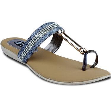 Ten Synthetic Sandals For Women_tenbl183 - Grey