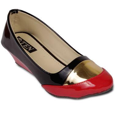 Ten Patent Leather Wedges For Women_tenbl214 - Black