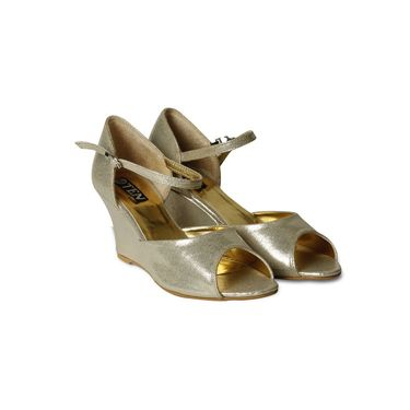 Ten Synthetic Wedges For Women_tenbl224 - Gold