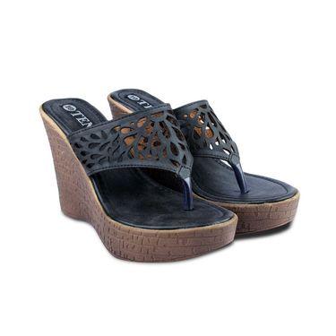 Ten Leather Sandals For Women_tenbl226 - Black