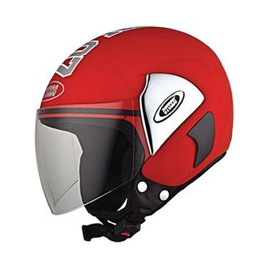 Studds - Open Face Helmet - Cub 07 Decor (Red) [Large - 58 cms]