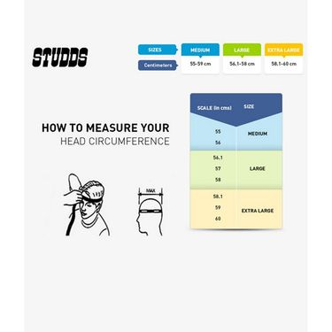Studds - Open Face Helmet - KS-1 Metro (Black) [Large - 58 cms]