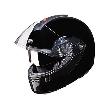 Studds - Full Face Helmet - Ninja 3G Double Visor FlipUp (Black) [Extra Large - 60 cms]