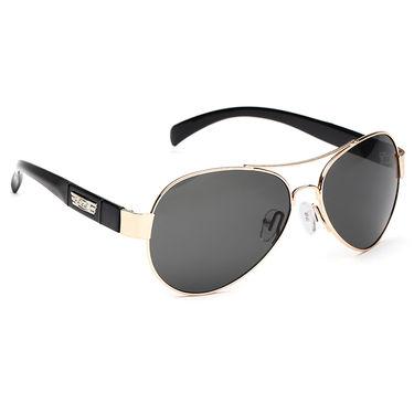Alee Metal Oval Unisex Sunglasses_131 - Grey