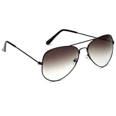 Alee Metal Oval Unisex Sunglasses_127 - Brown