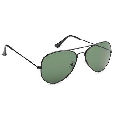 Alee Metal Oval Unisex Sunglasses_180 - Green