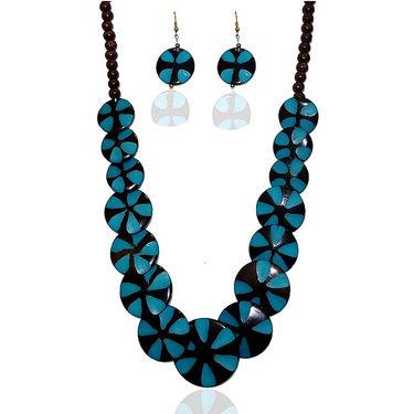 Urthn Elegant Necklace Set - Blue - 1103126