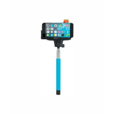 Vibrandz Selfie Stick Wireless Handheld With Inbuilt Click Button - Blue