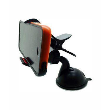 Vibrandz Colourful Phone Car Holder - Black