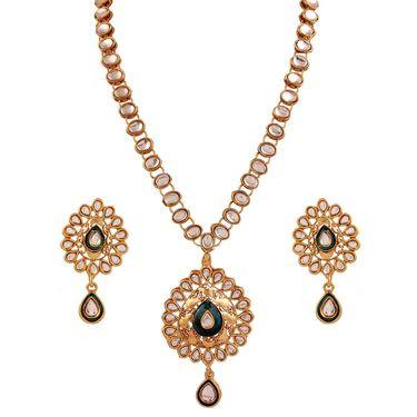 Variation Gold Plated Kundan Fashion Necklace Set_Vd13898