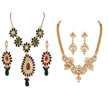 Combo of 2 Variation Necklace Sets With Earrings_Vd14042