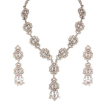 Variation Austrian Diamond Long Party Wear Necklace Set_Vd14219