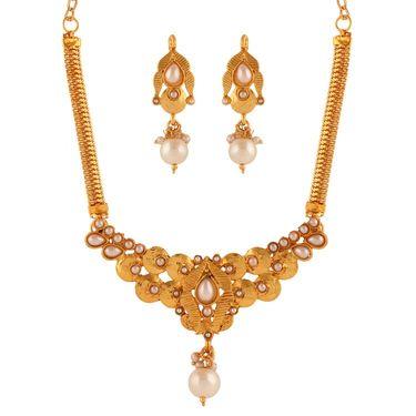 Variation White Pearl Necklace Set_Vd15939