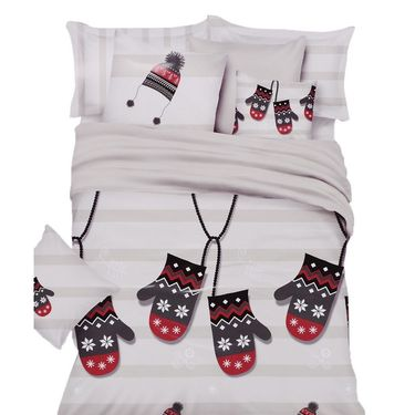 Amore Double BedSheet With 2 Pillow Cover-VKNS006