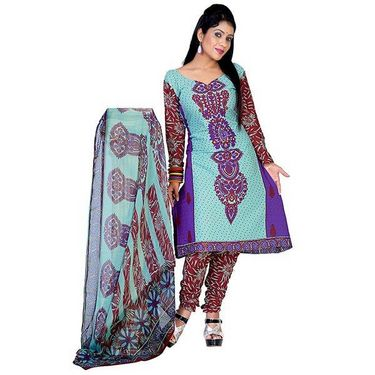 Variation Set of 7 Colourful Designer Dress Material