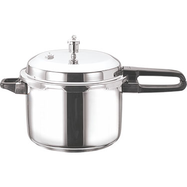 Vinod 8 Ltr Induction Friendly SS Sandwich Bottom Pressure Cooker With Lid - Silver