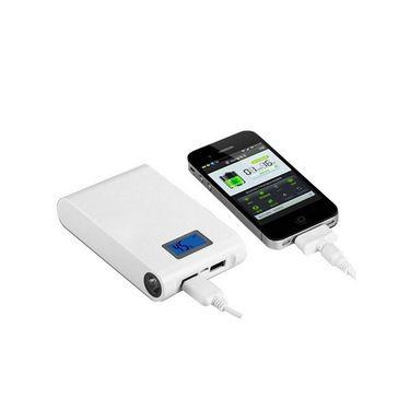 Vox 12000mAh LCD Display Power Bank - White