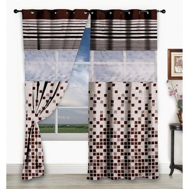 Storyathome Set of 2  Window curtain-5 feet-WCL_2-1004