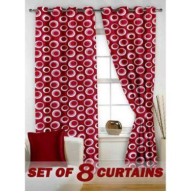Set of 8 Printed  Window curtain-5 feet-WNR_4_2020