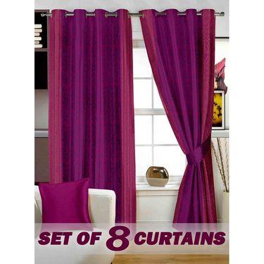 Set of 8 Printed  Window curtain-5 feet-WNR_4_2072