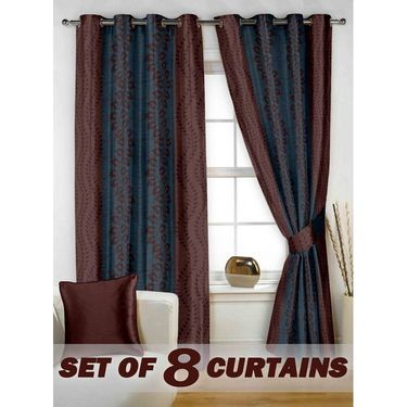 Set of 8 Printed  Window curtain-5 feet-WNR_4_2074