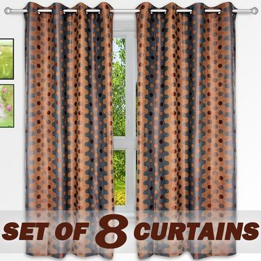 Set of 8 Printed  Window curtain-5 feet-WNR_4_2075