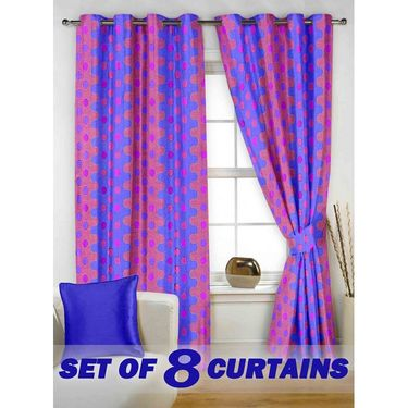 Set of 8 Printed  Window curtain-5 feet-WNR_4_2076