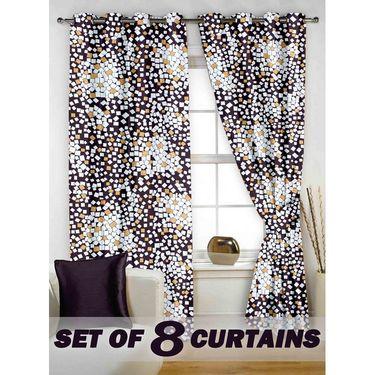 Set of 8 Printed  Window curtain-5 feet-WNR_4_2077