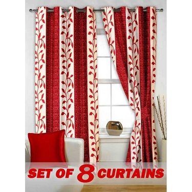 Set of 8 Printed  Window curtain-5 feet-WNR_4_3015