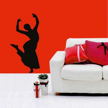 Dancing Lady Decorative Wall Sticker-WS-08-019