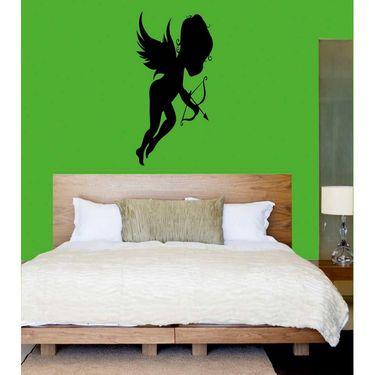 Black Baby Angel Decorative Wall Sticker-WS-08-178