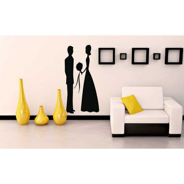 Black Couple Wall Sticker-WS-08-195