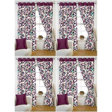 Storyathome Set of 8 Window curtain-5 feet-WTZ_4-1001