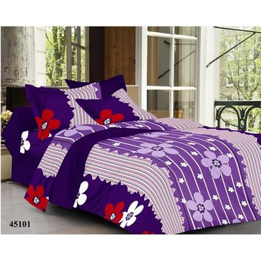Valtellina Combo of 4 Double Bed Sheets with 8 Pillow Covers-YTD_C2_31_43_47_52