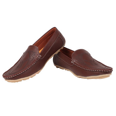 Yellow Tree Synthetic Leather Brown Loafers -osy05