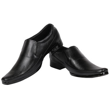 Yellow Tree Synthetic Leather Black Formal Shoes -osy08